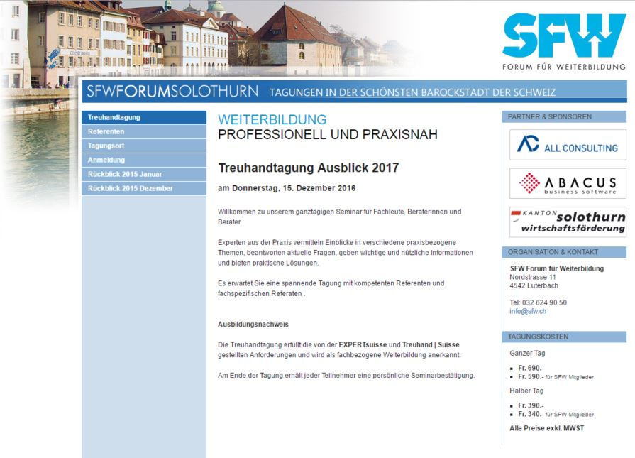 Revisionstagzung am 27.09.2016 in Solothurn